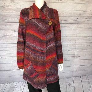 JJill Single Button Shawl Sweater Sz M